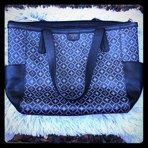 Fossil  black gray bag